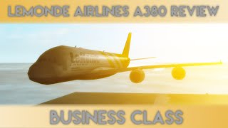 Vol A380 de Roblox Lemonde Airlines (Classe Affaires)
