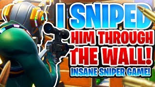 I SNIPED HIM THROUGH THE WALL! INSANE SNIPER GAME!