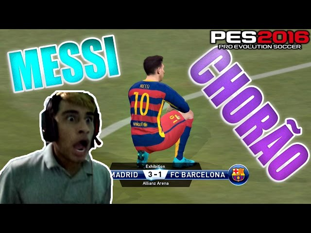 Pes 2016 - Messi Chorou Apos Perder De 3x1