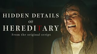 Hereditary | What The Script Teaches Us