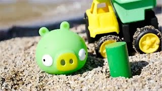 Carros - Colores para niños - Colors in Spanish - Angry Birds Pig toys