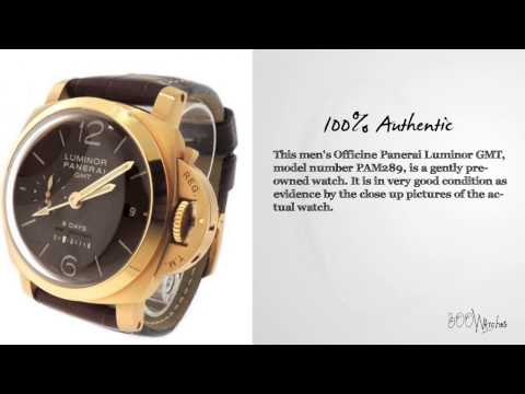 Limited Officine Panerai Luminor GMT 8 Day Power Reserve 18k Gold Watch