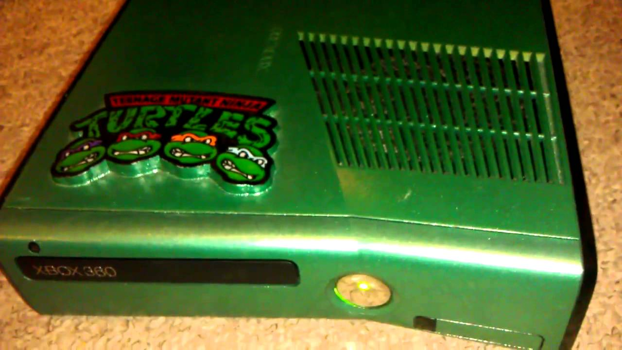 custom tmnt xbox 360 slim console   youtube