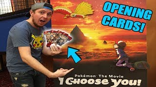 POKEMON CARD OPENING AT THE MOVIE THEATER   I CHOOSE YOU MOVIE REVIEW