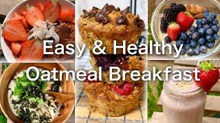 簡単ヘルシーオートミール朝食‼️ 5 Easy Healthy Breakfast Ideas‼️