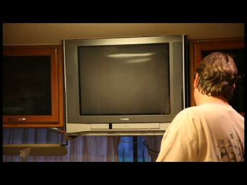 How to remove your old RV TV National RV Tropical 2008