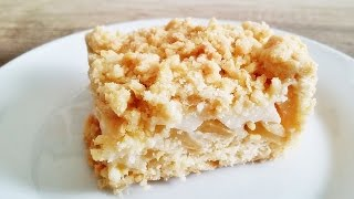 Rezept: Apfelkuchen mit Pudding und Streusel / Apfelblechkuchen / Der perfekte Apfelkuchen