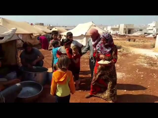 HOT FOOD COOKED AND DISTRIBUTED IN THE SYRIAN REFUGEE CAMPS FOR FAMILIES /ORPHANS - Jul Aug 2016