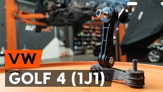 Katso video-opas kuinka vaihtaa Tanko kallistuksenvaimennin VW GOLF IV (1J1)-mallin
