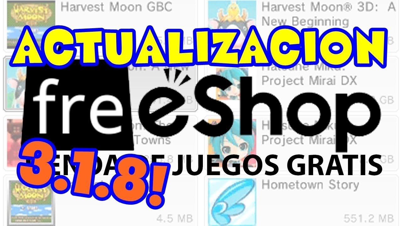 Actualizar FreeShop 3 1 8 New/Old 3ds - YouTube
