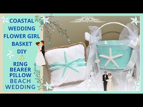 HOW TO MAKE A COASTAL WEDDING STARFISH FLOWER GIRL BASKET & RING BEARER PILLOW DIY NAUTICAL BEACH