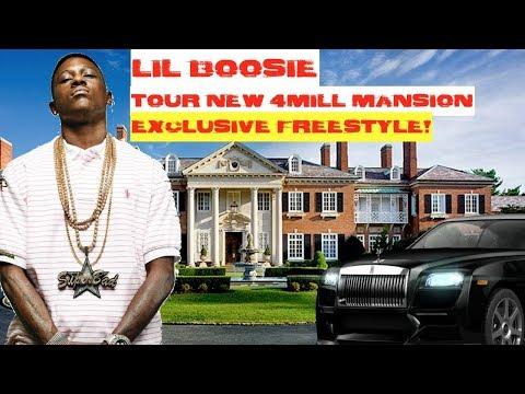 Lil Boosie Artist Yung Blue Shows Boosie's new Mega Mansion Sept 2017