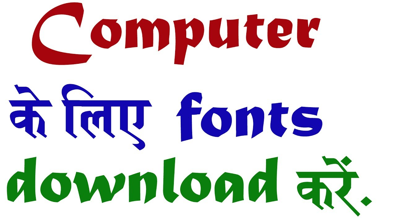 Hindi english font download