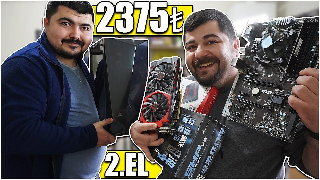 2375₺ DDR4 2.el Toplama PC yaptım. Uygun Fiyatlı 256Bit Ekran Kartlı