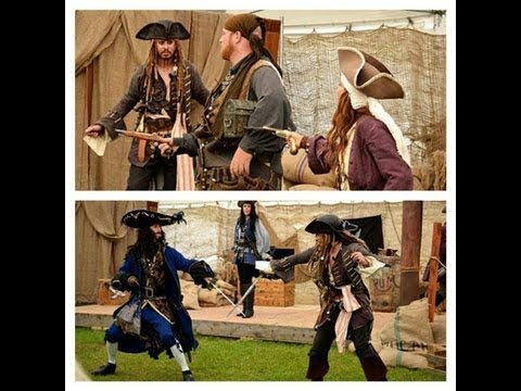 Captain Jack Sparrow and PIRATES FOR HIRE invade the Alaska State Fair. Part 2. 'HOOK VS. SPARROW'!