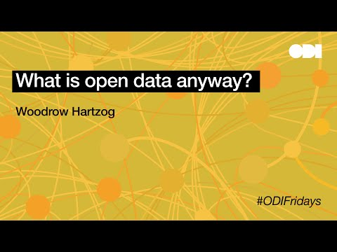 Friday lunchtime lecture: What is open data anyway?