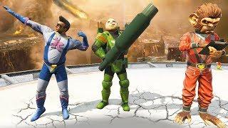 GTA 5 ONLINE DESTRUCTION : SUPER HEROS