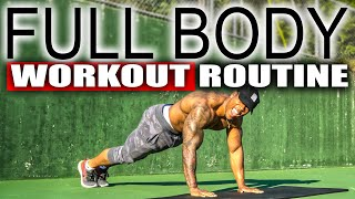 20 MINUTE FULL BODY WORKOUT FOR BEGINNERS(NO EQUIPMENT)
