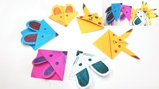 How to fold an Easy Origami paper (2 types) Bookmark For Kids