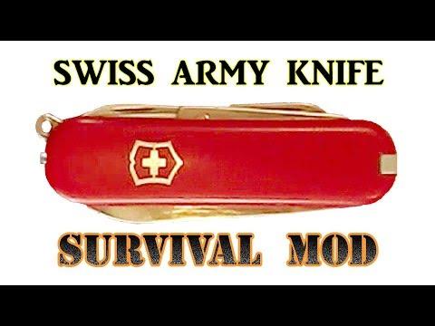 Mini Swiss Army SURVIVAL Knife Mod
