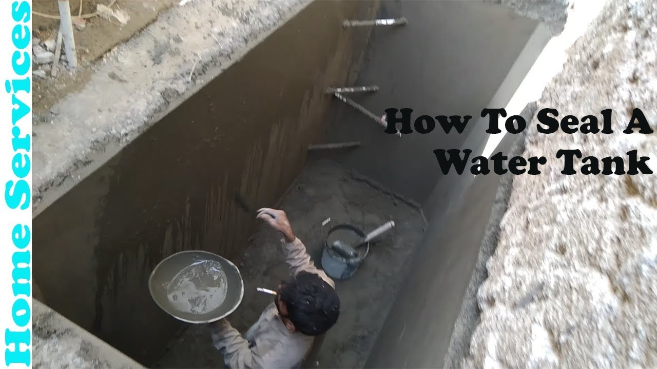 Concrete Sealer Wall How To Seal A Water Tank
