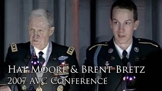 General Hal Moore promotes Sgt. Brent Bretz 2007 AVC Conference