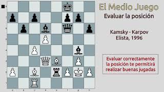 La importancia de EVALUAR correctamente la posición en AJEDREZ (Kamsky - Karpov, 1996)