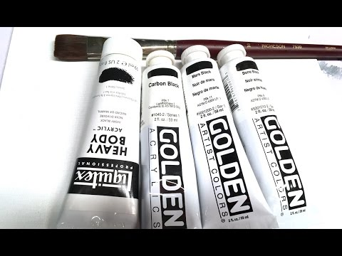 Whats the difference between the Black Paints #bigartquest 25