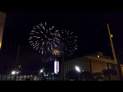 Pyrotechnic games 7 December Downtown Bogota Col