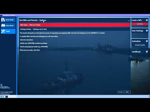 Requesting updates for ADMIRALTY e-Nautical Publications v1.2 using media (NMs and catalogue)