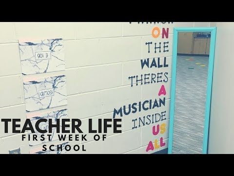 first week of school for an elementary music teacher // TEACHER LIFE #8