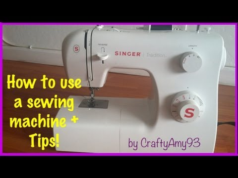How to use a sewing machine + Sewing Tips! (Easy for Beginne