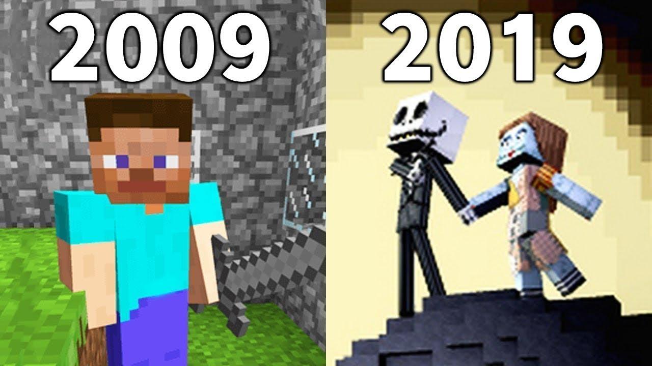 Evolution Of Minecraft 2009 2019 Youtube
