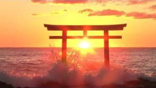 日本の絶景 初日の出ー大洗「神磯の鳥居」