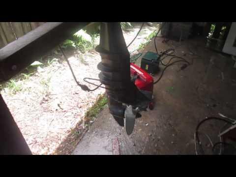 8 HP Mariner outboard motor running