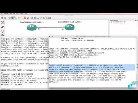 GNS3 Cisco CSR 1000v setup and configuration Part 2: GNS3