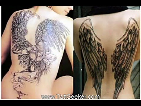 Angel wings tattoo designs - YouTube