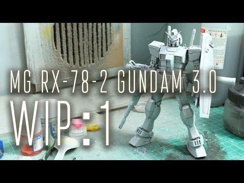 1268 - MG RX-78-2 Gundam 3.0 WIP:1