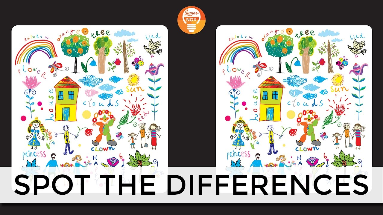 Spot The Differences Game 7 Can You Spot The Difference For Kids And Adults Youtube