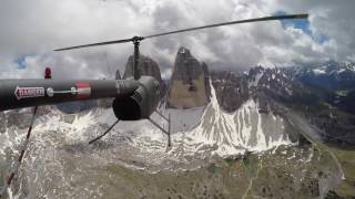 Robinson R44 Pilot Flight Thru The Alps From Austria To Cannes, France - Part 1.