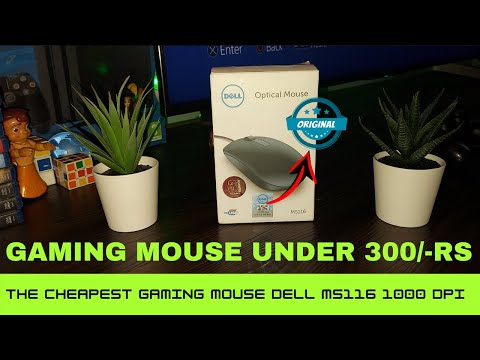 Dell MS116 Optical Mouse Unboxing Review And Test Best Budget Mouse
