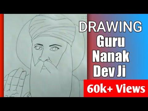 Drawing Shri Guru Nanak Dev Ji (part 1)