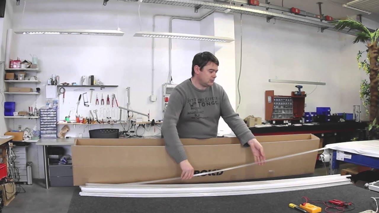 profilo in alluminio stretto per strisce Led - YouTube