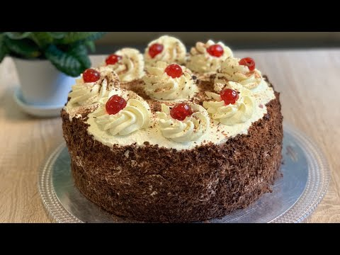 Торт «Черный лес», классический рецепт - Schwarzwälder  Kirschtorte