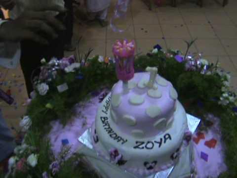 Birthday Cake With Name Zoya ~ Zoya birthday cake youtube