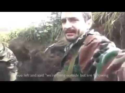A Syrian solider with a message to those who deserted their country Syria