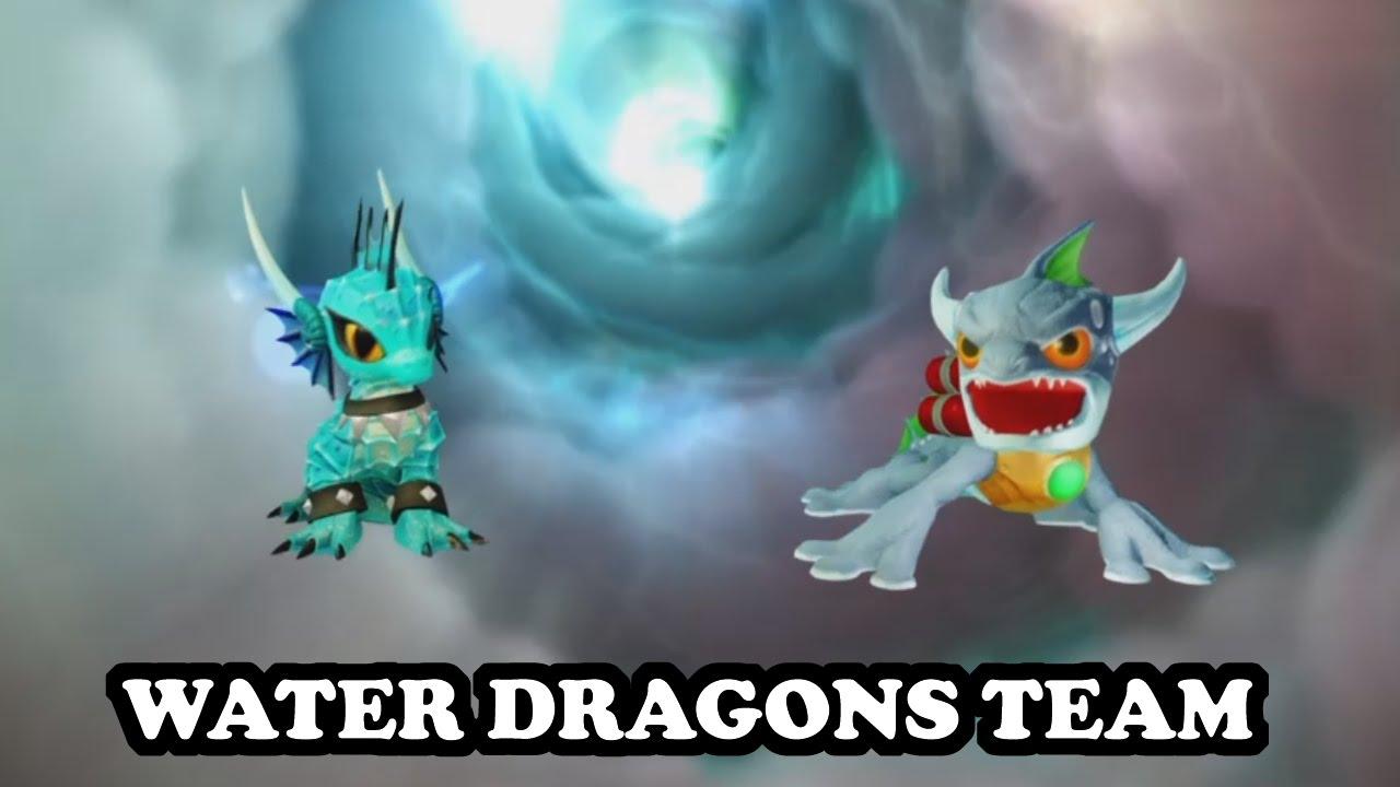 Skylanders Imaginators - Echo & S2 Zap GAMEPLAY - WATER DRAGONS TEAM