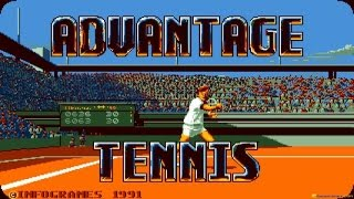 Advantage Tennis gameplay (PC Game, 1991)