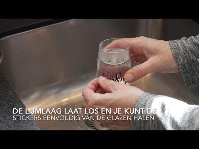 How to - Stickers van glazen afhalen
