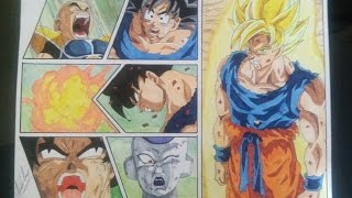 DRAGON BALL Z HOW TO DRAW GOKU SSJ SUPER SAIYAN SAYAJIN DRAWING DIBUJO 図 悟空超サイヤ人